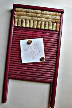 washboard cork & magnet board