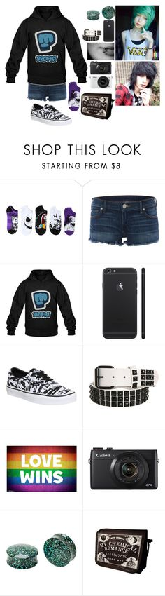 """Untitled #80"" by thugpug887 ❤ liked on Polyvore featuring True Religion, Vans and Nikon"