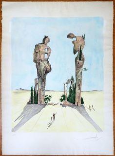 """Salvador Dalí: """"Paisaje imaginario"""" E.A. - Subasta Real"""