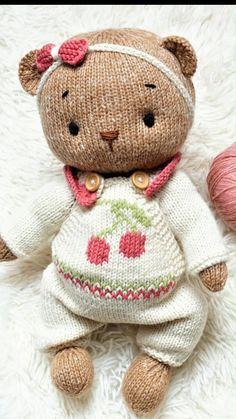 Knitting Bear, Teddy Bear Knitting Pattern, Knitted Teddy Bear, Knitting Toys, Teddy Bear Patterns Free, Knitting Dolls Free Patterns, Knitted Dolls Free, Teddy Bear Clothes, Knitted Animals