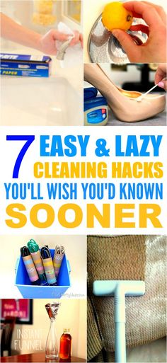 These 7 cleaning hacks with household items are THE BEST! I'm so glad I found these GREAT tips! Now I can save money and make my home look so clean and fresh! I'm SO pinning for later!