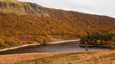 Autumn view of the Elan Valley
