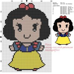 Schema punto croce Biancaneve Disney Cuties 50x71 8 colori.jpg (2.03 MB) Mai osservato