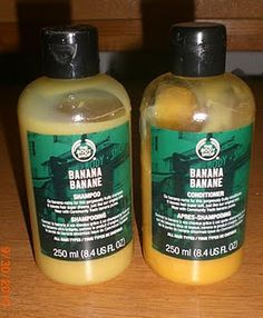 The Body Shop Banana Shampoo & conditioner...This is great stuff!