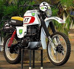 #yamaha #xt 500 Enduro Vintage, Vintage Bikes, Off Road Bikes, Dirt Bikes, Yamaha Motorcycles, Cars And Motorcycles, Rallye Raid, Desert Sled, Enduro Motorcycle