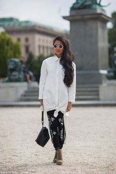 Great glasses, and everything else! Carolines Mode | StockholmStreetStyle