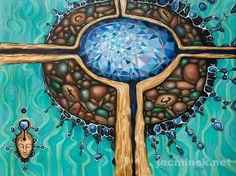 CONSCIOUSNESS Original mystic art oil painting by JakubJecminekArt