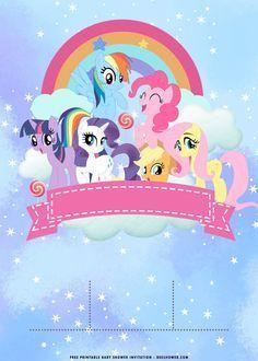 My Little Pony Birthday Invitation Template Equestria Edition My Little Pony Invitations Pony Birthday My Little Pony Birthday