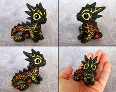 Baby Magma Dragon - Magmini by DragonsAndBeasties.deviantart.com on @deviantART