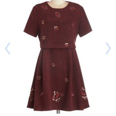 Modcloth's Red-dy to Roll dress size 8/10 Nishe NWT US 8 (I feel like it might fit a 10 better). brand is Nishe. This is a thick material and doesn't work for Mississippi climate. Retailed for $104.99 nishe Dresses Mini