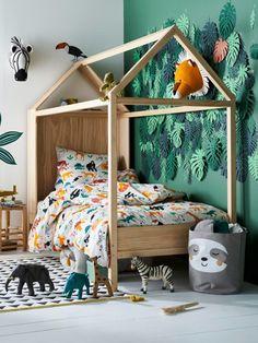 Children& room decor idea: a jungle room - Baby / child room room design Childrens Jungle Bedrooms, Childrens Room Decor, Boys Jungle Bedroom, Jungle Kids Rooms, Kids Decor, Safari Room, Jungle Room Themes, Kids Bedroom Designs, Baby Room Design