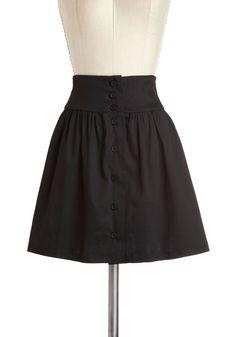 What a lovely black skirt!