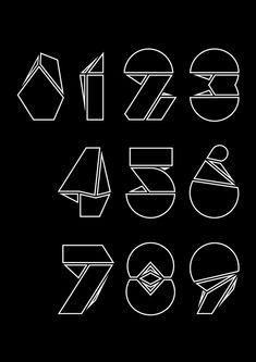Numerografía - Yorokobu on Typography Served Typography Served, Creative Typography, Graphic Design Typography, Branding Design, Alfabeto Tattoo, Typo Logo, Lettering Styles, Doodle Designs, Monogram Fonts