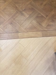 Our showroom floors showcasing #Amtico Top: Amtico Signature in Farmhouse Oak in basket weave laying pattern Bottom: Amtico Signature White Oak #collections #amtico #signature #flooring #luxury #vinyl #york