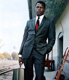 The Shaped American Sack Suit. Sidney Poitier.