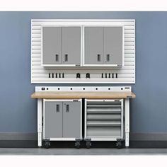 Provide A Customize Storage Space For Your Particular Needs With Gladiator  Premier Series Pre Assembled Rolling Garage Cabinet In Everest White.