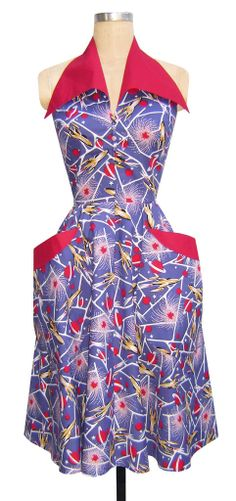 The Trashy Diva Rockette Dress in Sci Fi Rockets is shaped like a rocket! On my rope 5 must find list