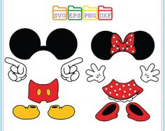 Mickey Mouse Svg and Minnie Mouse SvgDisneySvg Dxf Png Minnie Mouse 1st Birthday, Mickey Mouse Clubhouse, Minnie Mouse Party, Theme Mickey, Mickey Party, Fiesta Mickey Mouse, Mickey Minnie Mouse, Disney Mickey, Mickey Mouse Decorations