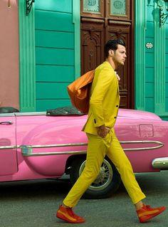 9950fbe03 Felix Bujo for GQ Japan, June 2017 Yellow Suit, Photo Colour, Fashion Photo