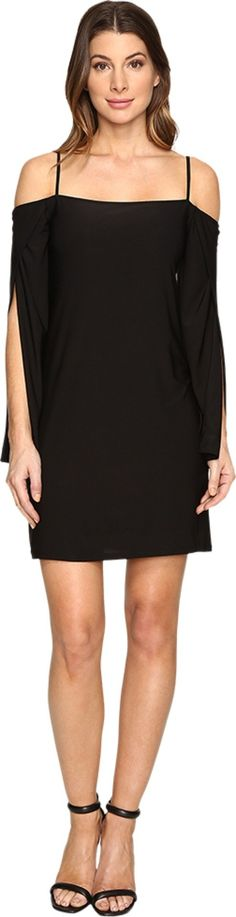 Laundry by Shelli Segal Women's Long Wrap Slit-Sleeve Off the Shoulder Cocktail Dress Black Dress. Update your little black dress!. Shift silhouette. Solid colorway on a stretch-poly fabrication. Off-the-shoulder neckline. Long wrap sleeves with full-length slits. Fully lined. Straight hemline. Slip-on. 94% polyester, 6% spandex;Lining: 94% polyester, 6% spandex. Machine wash cold, tumble dry low. Imported. Measurements: Length: 35 in Product measurements were taken using size 2. Please…