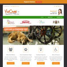 VuCare Assistance Dogs Website Design Visit www.StudioGrfx.com to view my portfolio.  #webdesign #graphicdesign