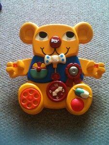 Matchbox Vintage Baby Activity Yellow Toy Teddy Bear