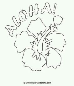 Printable luau border. Use the border in Microsoft Word or