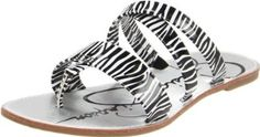 Jessica Simpson Nora III Thong Sandal (Little Kid/Big Kid),Black/White Zebra,3 M US Little Kid