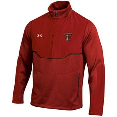Texas Tech Red Raiders Red Under Armour  Football Sideline Half-Zip Jacket