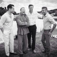 O elenco de The Man From UNCLE com o seu diretor Guy. Via @davidbeckham