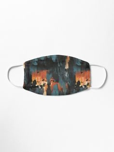 """""""New dawn rusty orange - fluid painting pouring image in teal, black and orange"""" Mask by nobelbunt Make A Donation, Mask Design, Iphone Wallet, Dawn, Turquoise Bracelet, Cuff Bracelets, Teal, Orange, Artist"""