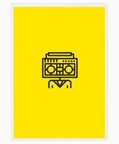 spanish graphic design studio tata&friends has illustrated 'rock band icons', a series of posters which delineate the names of renowned bands using straightforward and literal graphics. a hot yellow background describes each canvas, with black lines marking the pictographic representations.