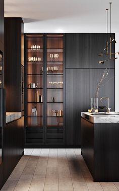 Loft Kitchen, Kitchen Room Design, Modern Kitchen Design, Home Decor Kitchen, Interior Design Kitchen, Home Bar Designs, Minimalist Kitchen, Future House, Kitchen Remodel