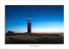 Texel - Lighthouse in Blue Hour Blue Hour, San Francisco Ferry, Lighthouse, Explore, Building, Travel, Bell Rock Lighthouse, Light House, Viajes