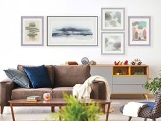 Nordic Shores Living Room Living Room Art, Nordic Style, Decorating Tips, Gallery Wall, Things To Come, Throw Pillows, Bed, Color, Design