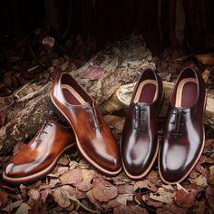 TERSE custom mens design genuine leather shoes handmade Italian leather footwear factory supplier