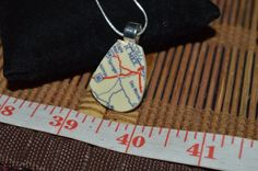 Recycled Broken China Jewelry, Road Map Necklace #CLyonsDesign #Map