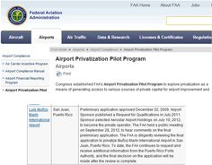 """""""... the FAA continues to request and receive additional information from the Puerto Rico Ports Authority, and the final decision on the application will be made after the review is complete."""""""