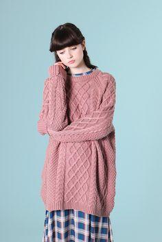 Oversized Knit Jumper Dusky Pink