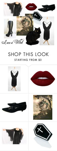 """""""I am a Witch"""" by la-baronne-vintage ❤ liked on Polyvore featuring Lime Crime and Witch Worldwide"""