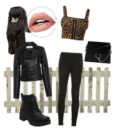 """""""animal print"""" by lana-fo on Polyvore featuring Her Curious Nature, WearAll, IRO, Chloé and Yves Saint Laurent"""
