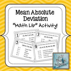 Worksheets Mean Absolute Deviation Worksheet super fun activity to practice finding the mean absolute deviation math lib activity
