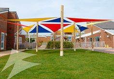 posts for shade sails playground - Google Search