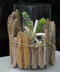 décoration en bois flotté pour un terrarium miniature
