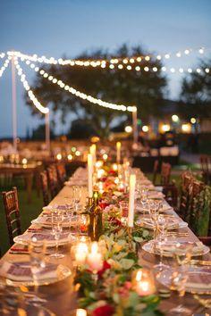 Romantic reception lighting ideas