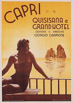 Capri Ad with The Kissing Rocks - love it!