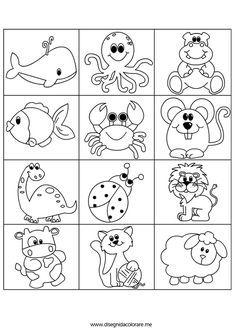 Cartoon sea animal in line art style, black and white in