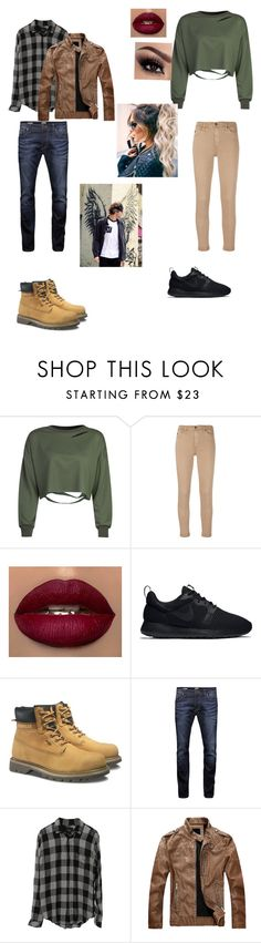 """""""Ashton Irwin -ouat Robin Hood- storybrooke"""" by fangirl-24 on Polyvore featuring WithChic, AG Adriano Goldschmied, NIKE, Caterpillar, Jack & Jones and Rails"""