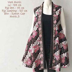 Model Outer Batik Tanpa Lengan Monic 2019 Outer Batik, Kebaya Brokat, Kebaya Muslim, Kimono Top, Vest, Cap, Album, Model, Fashion