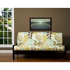 sis cover english garden futon cover fabric  removable futon cover fabric only  futon frame and futon mattress sold separately    full smart hack  use sheet straps to prevent futon cover from slipping      rh   pinterest